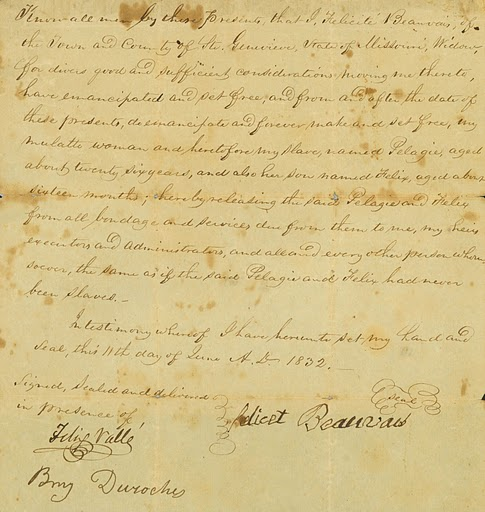 Pelagie's Emancipation Document